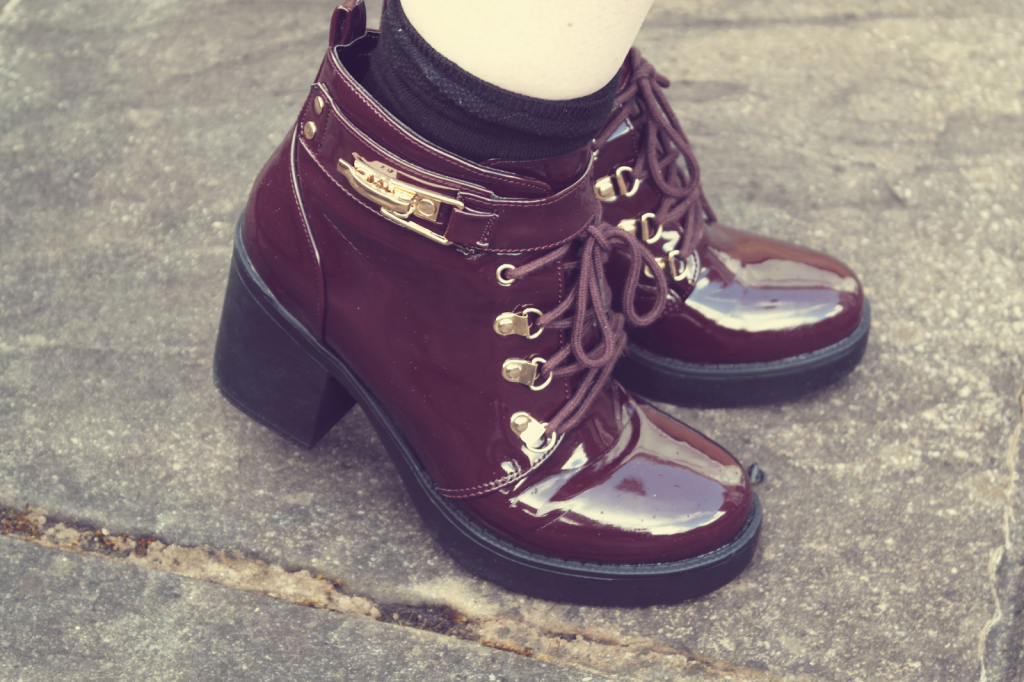 Red Patent Missguided Boots